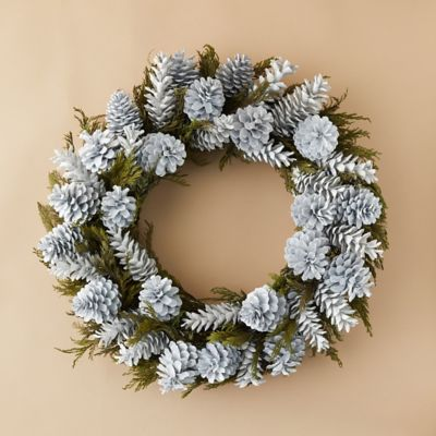 Preserved Cedar + Pinecone Wreath
