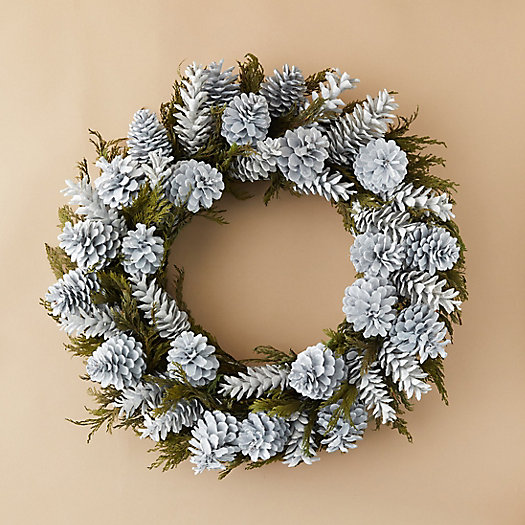 View larger image of Preserved Cedar + Pinecone Wreath