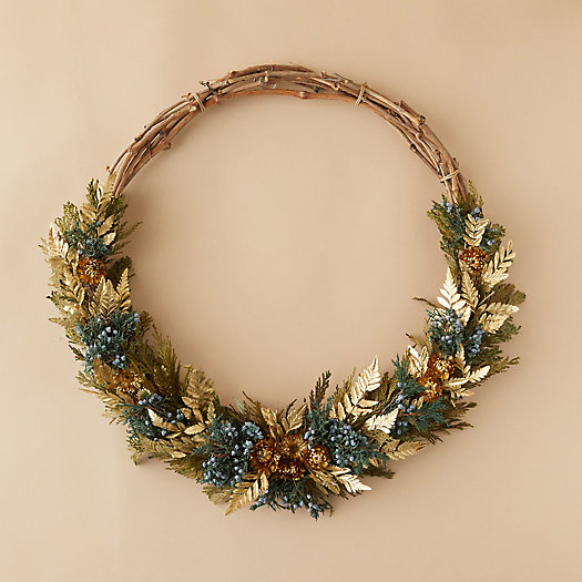 View larger image of Asymmetrical Gilded Fern Wreath