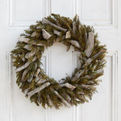 Preserved Cedar + Driftwood Wreath