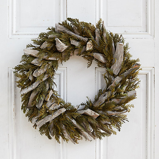 View larger image of Preserved Cedar + Driftwood Wreath