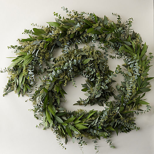 View larger image of Fresh Eucalyptus + Bay Leaf Garland