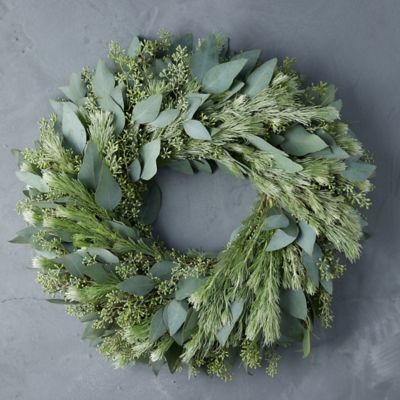Fresh Seeded Eucalyptus + Woolybush Wreath