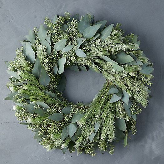 View larger image of Fresh Seeded Eucalyptus + Woolybush Wreath