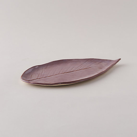 View larger image of Stoneware Leaf Platter, Long
