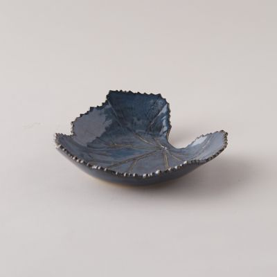 Stoneware Leaf Platter, Wide
