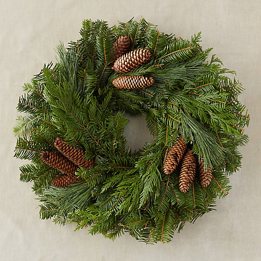 View larger image of Fresh Fir + Pinecone Wreath