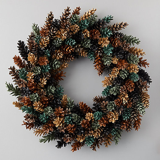 View larger image of Painted Pinecone Wreath