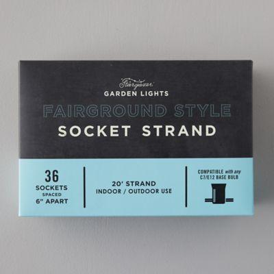 Stargazer Garden Lights Fairground Style Socket Strand
