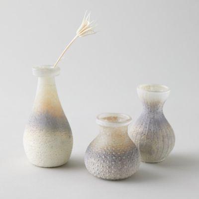 Antiqued Ombre Bud Vases, Set of 3