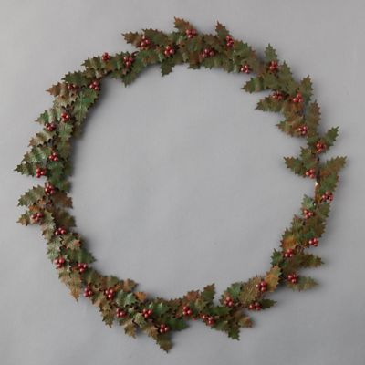 Iron + Bead Holly Berry Wreath