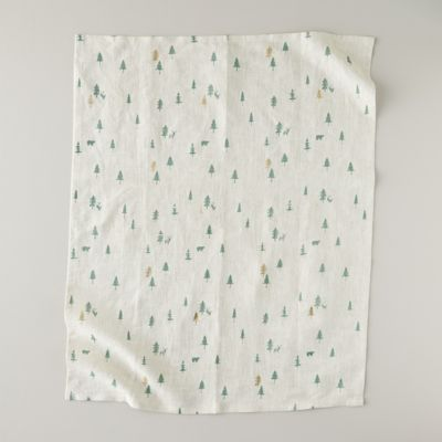 Evergreen Forest Tea Towel
