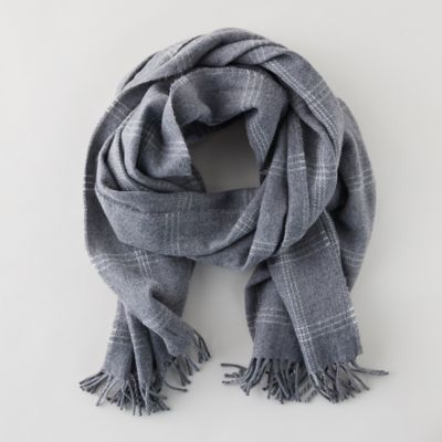 Merino Wool Windowpane Scarf