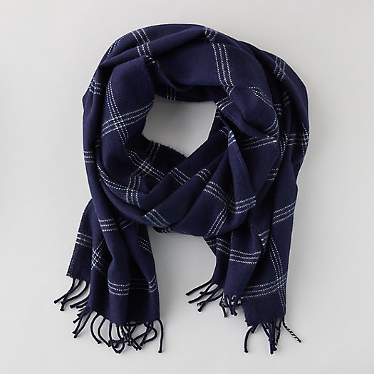 View larger image of Merino Wool Windowpane Scarf