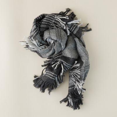 Alpaca Frayed Wool Scarf
