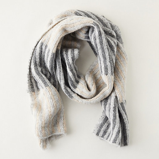 View larger image of Alpaca Striped Colorblock Scarf