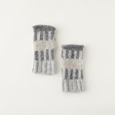 Alpaca Striped Colorblock Gloves