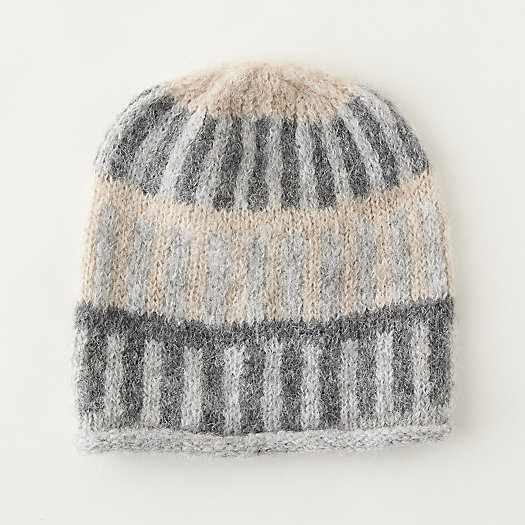 View larger image of Alpaca Striped Colorblock Hat