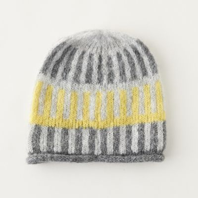 Alpaca Striped Colorblock Hat