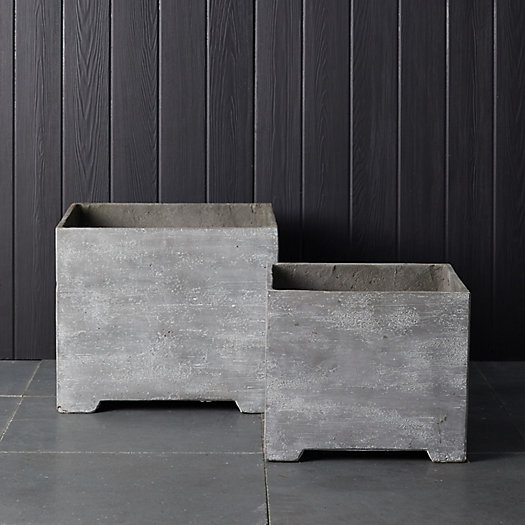 View larger image of Footed Fiber Concrete Planter