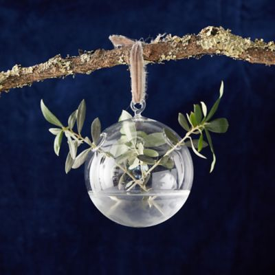 Glass Bauble Vase Ornament