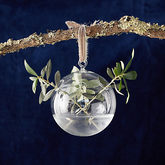View larger image of Glass Bauble Vase Ornament