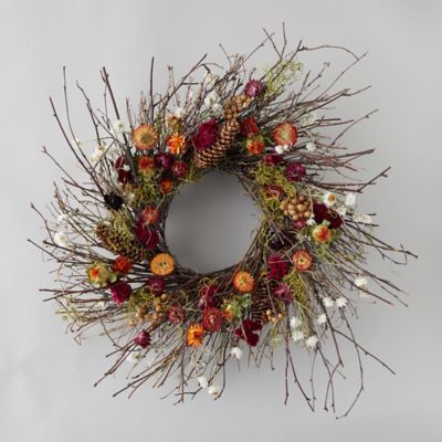 Birch + Preserved Ammobium Wreath