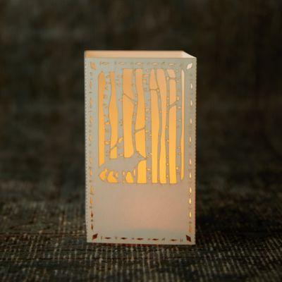 Laser Cut Paper Lantern, Wolf