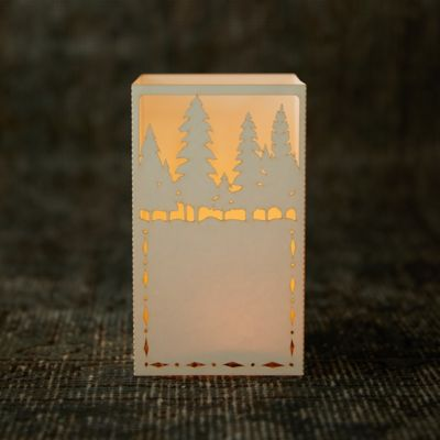 Laser Cut Paper Lantern, Trees