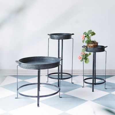 Round Iron Tray Plant Stand