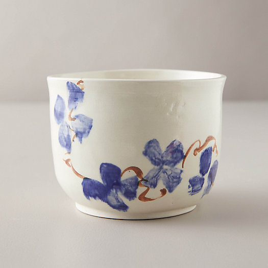 View larger image of Porcelain Wild Pansy Serving Bowl