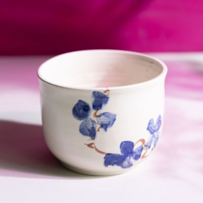 Porcelain Wild Pansy Serving Bowl