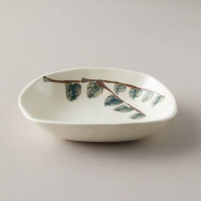 Porcelain Leaves Serving Dish