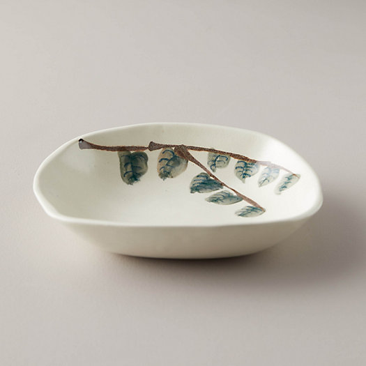 View larger image of Porcelain Leaves Serving Dish