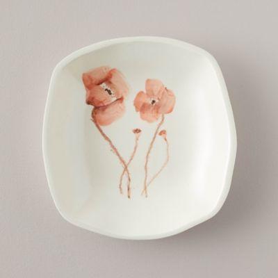 Porcelain Red Poppy Serving Plate