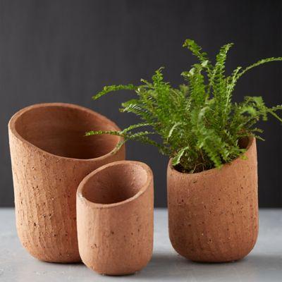 Sliced Stoneware Pot