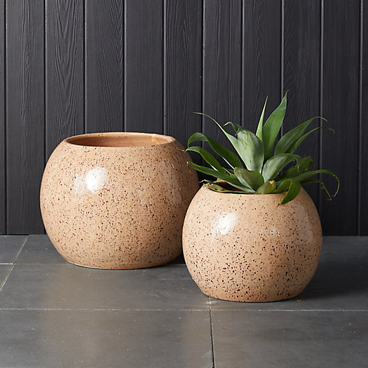 View larger image of Speckled Ceramic Sphere Planter
