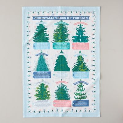 Terrain Trees Tea Towel