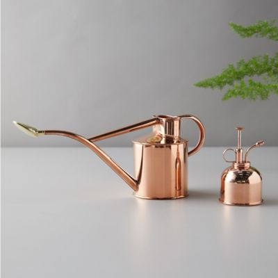 Haws 1 Liter Copper Watering Can + Mister Gift Set