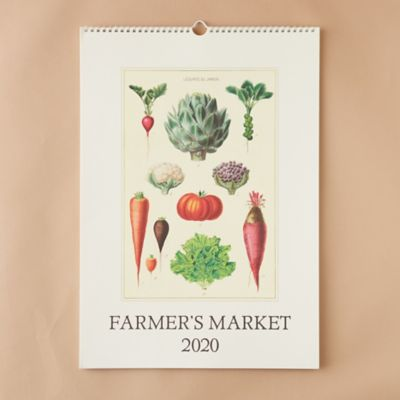 2020 Wall Calendar, Farmers Market