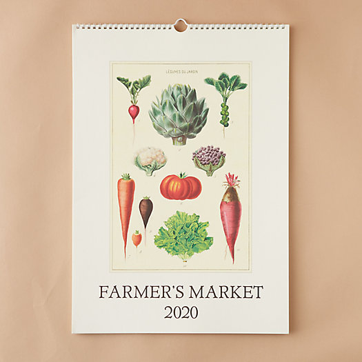 View larger image of 2020 Wall Calendar, Farmers Market
