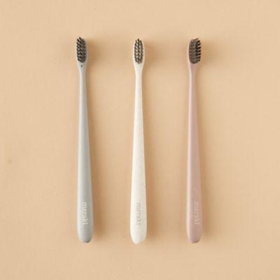 Wheatstraw Toothbrushes, Set of 3