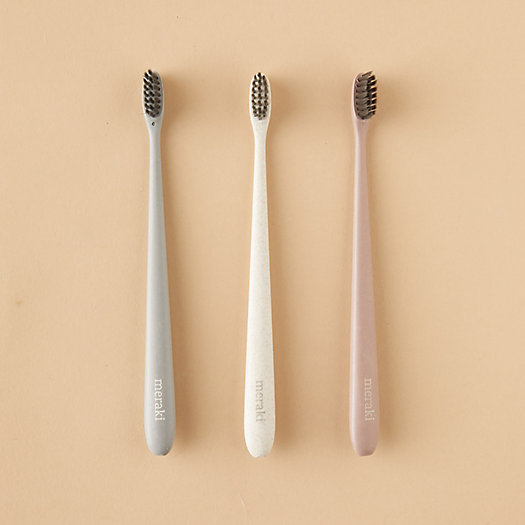 View larger image of Wheatstraw Toothbrushes, Set of 3