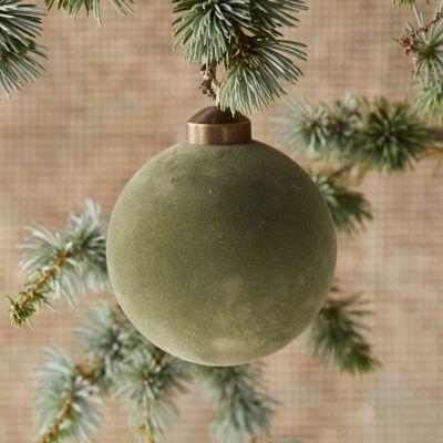 Velvet Globe Ornament