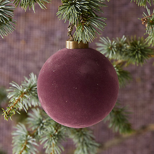 View larger image of Velvet Globe Ornament