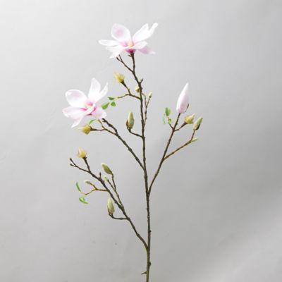 Faux Pink Magnolia Blossom Spray