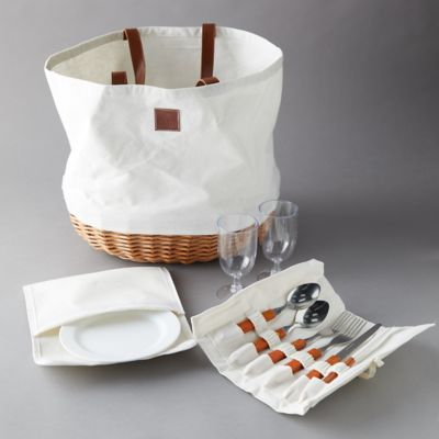 Willow + Canvas Picnic Basket