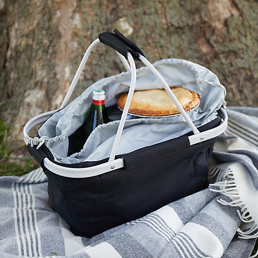 View larger image of Collapsible Drawstring Picnic Basket