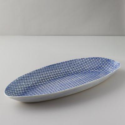 Color Washed Dotted Squares Serving Platter