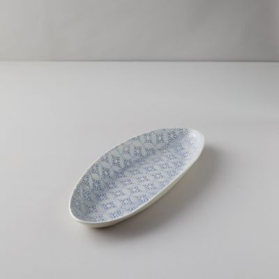 Color Washed Geo Lace Serving Platter